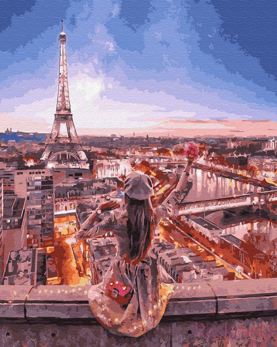 Раскраска по номерам Ночной Париж (BRM34558) НикиТошка ...