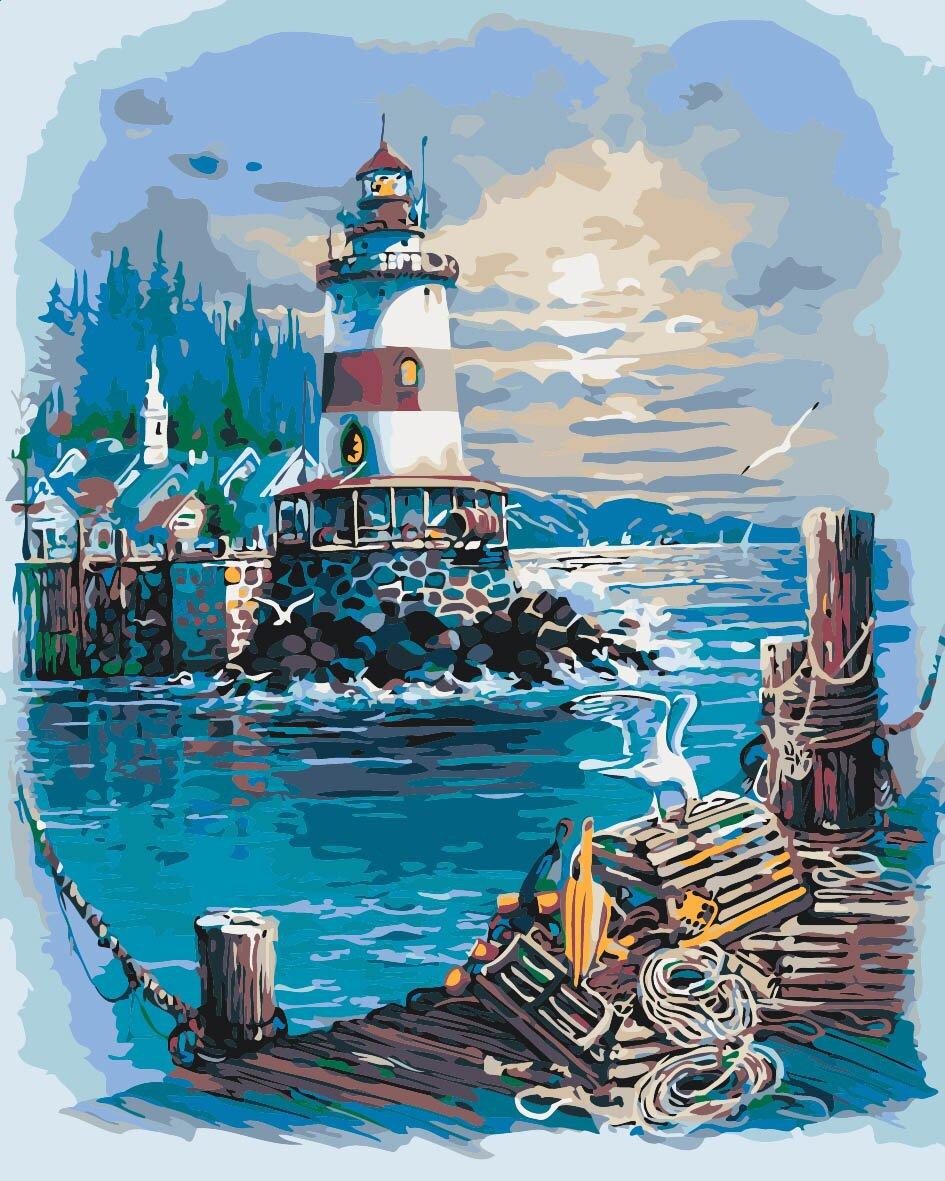 Раскраски по номерам Тихая гавань (KH2724) Идейка купить в ...