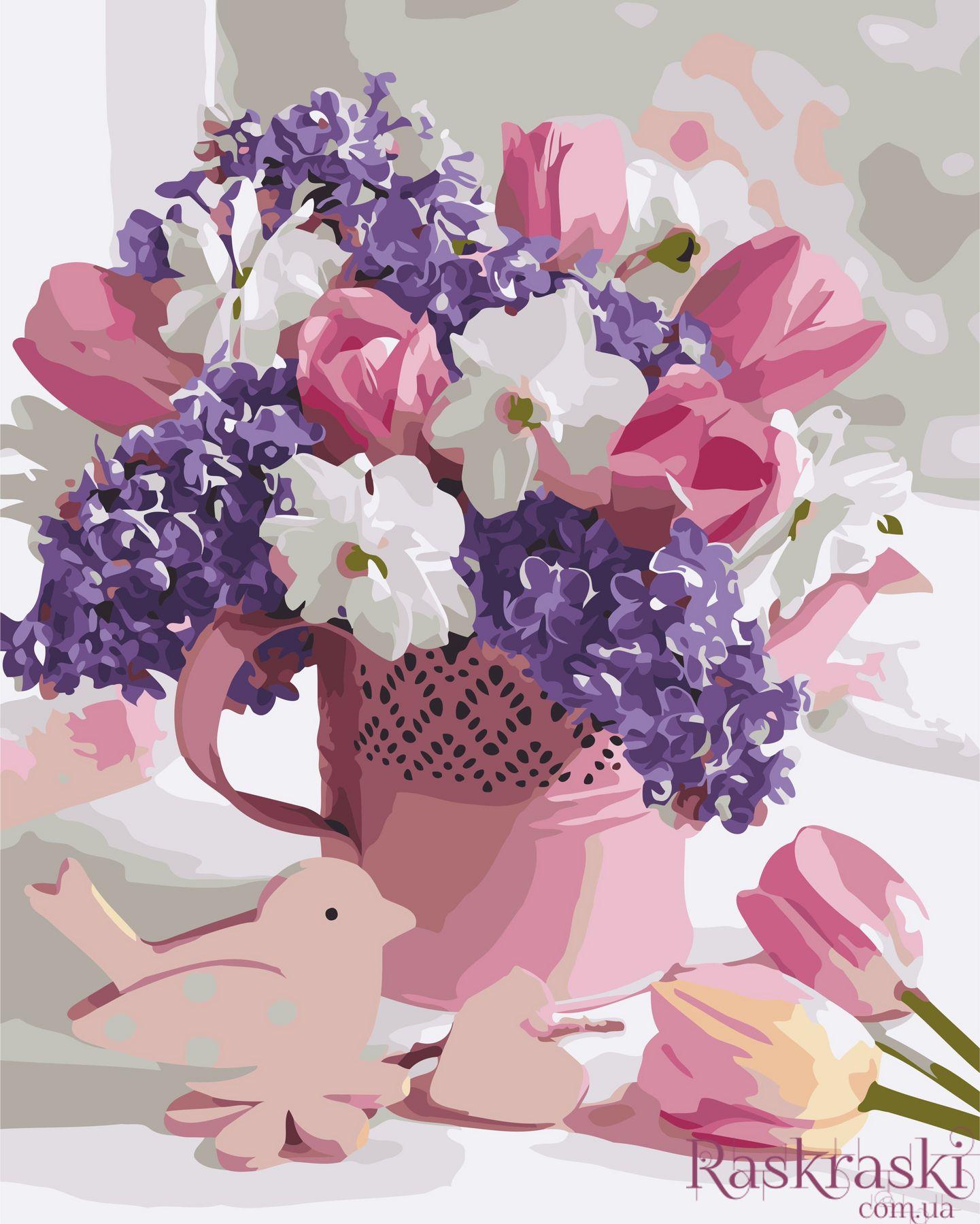Раскраски по номерам Нежный букет (AS0625) ArtStory купить ...