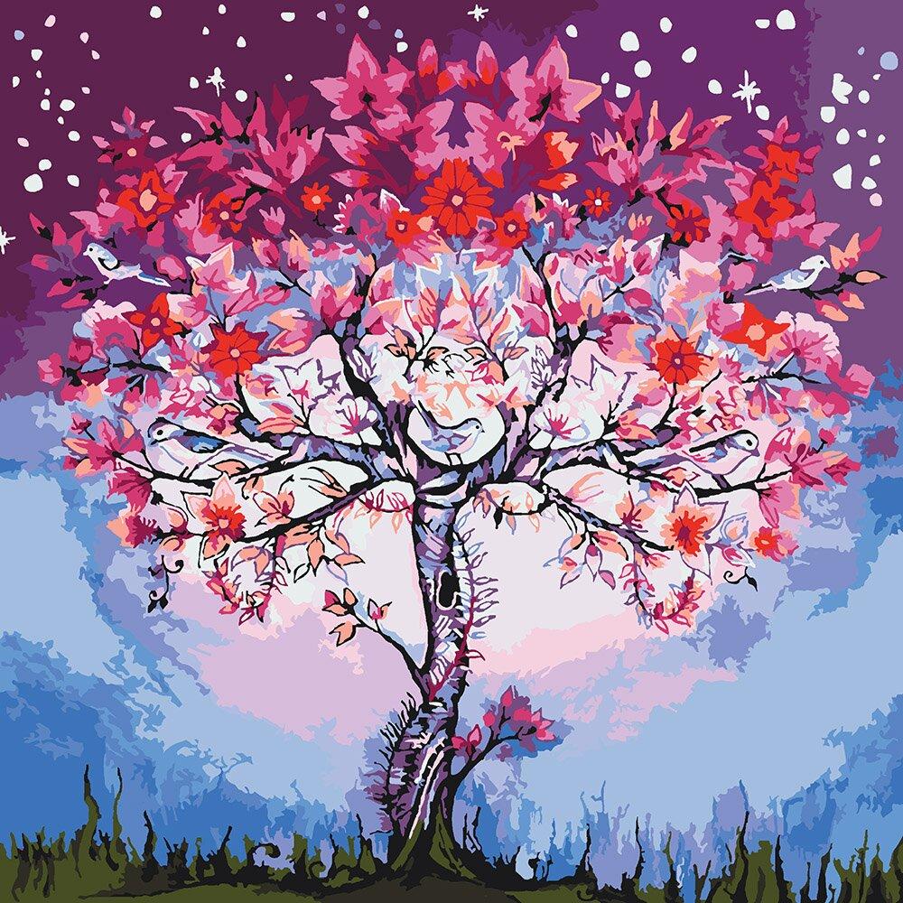 Раскраска по номерам Волшебное дерево (KH5012) Идейка ...