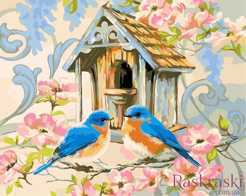 Раскраски по номерам Птичкин дом (AS0057) ArtStory купить ...