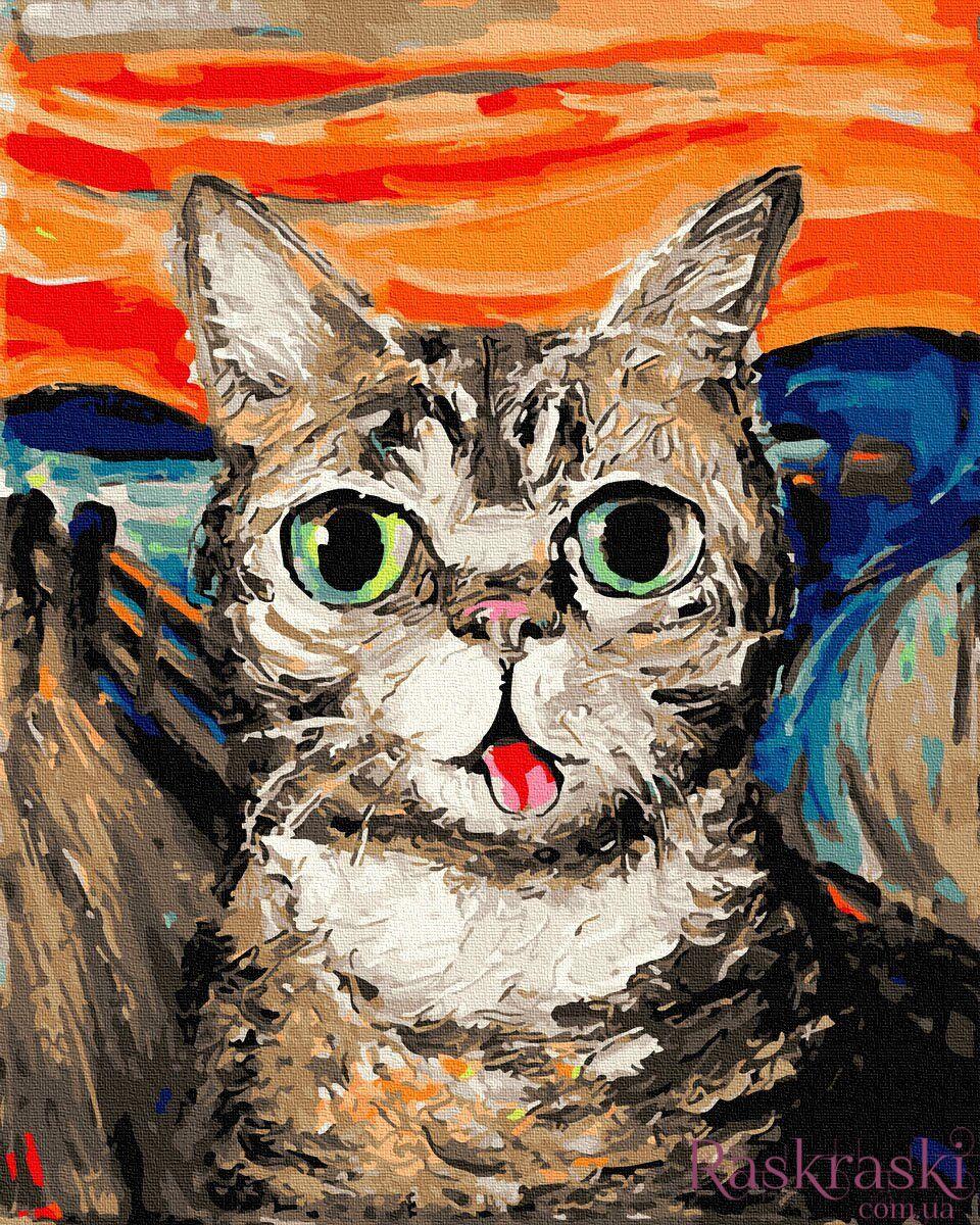 Картина по номерам Кот Ван Гога (BRM34377) Rainbow Art ...